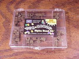 Partial Full Box of 65 Gold Alphabet Plastic Beads, 10mm, Westrim Crafts... - $5.95
