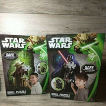 Star Wars Yoda and Darth Vader Wall Puzzle Lot of 2 Cardinal 24 in x 36 in - $24.70