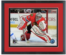 Corey Crawford 2014-2015 Chicago Blackhawks -11 x 14 Matted/Framed Photo - $42.95