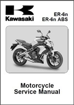 12-15 Kawasaki ER-6n / ER-6n ABS Service Repair Manual CD .. ER-6 ER6n - $12.00