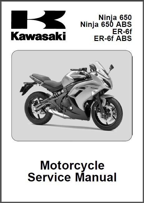 12-15 Kawasaki Ninja 650 / ER-6f ABS Service Repair Manual CD .. ER6f