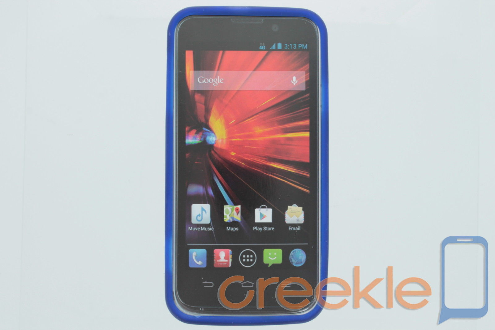Cricket Blue Designer Gel Case with Screen Protector for ZTE Source
