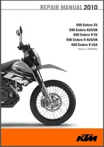 2010 KTM 690 Enduro (R) Service Repair Workshop Manual CD - $12.00