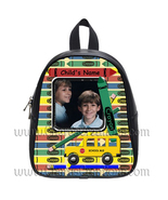 Crayon Personalized 100% Genuine Leather Double Zippered School Backpack... - $27.99+