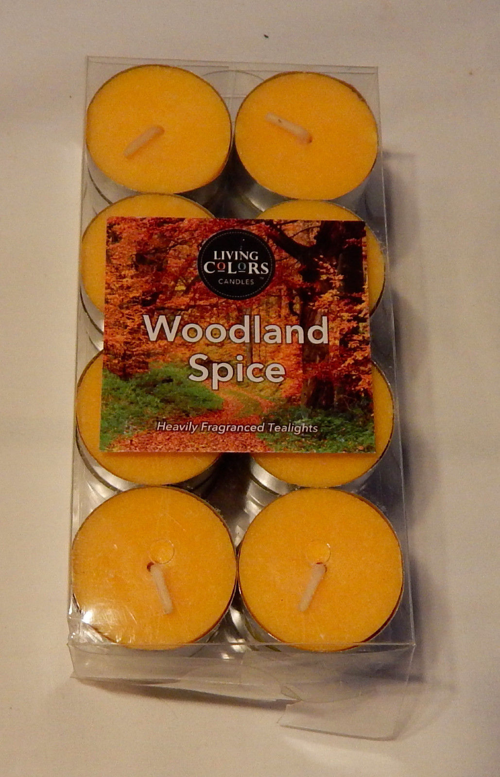 """Tealights 24pk 1 1/2"""" Woodland Spice Living Colors Heavily Fraganced Candles 63W"""