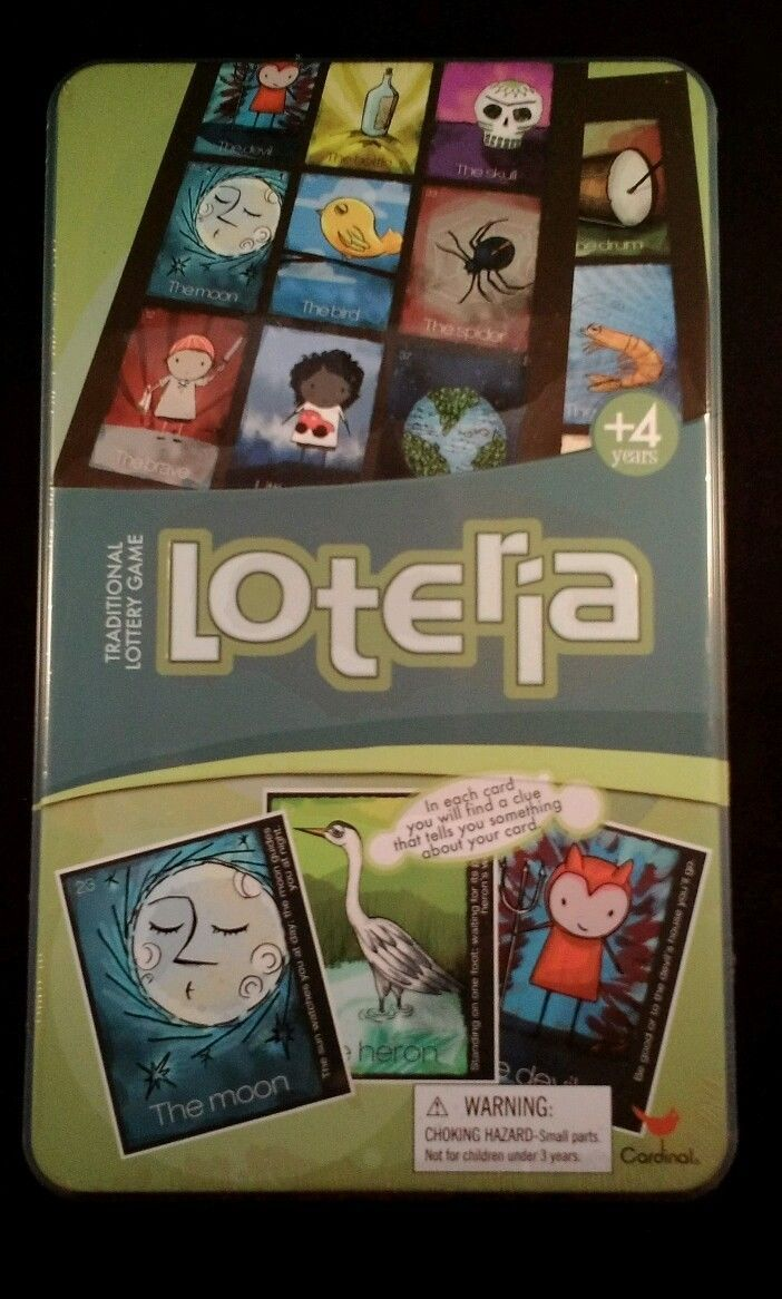New Cardinal's Traditional Lottery game Loteria sealed tin ages 4 + No Reading