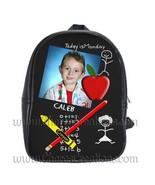 Chalkboard Personalized 100% Genuine Leather Double Zippered School Back... - $27.99+
