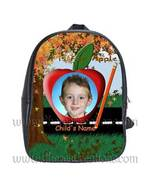 Fall Tree Personalized 100% Genuine Leather Double Zippered School Backpack - $27.99+