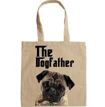 PUG DOGFATHER MAFIA STYLE- NEW AMAZING GRAPHIC HAND BAG/TOTE BAG - $16.78