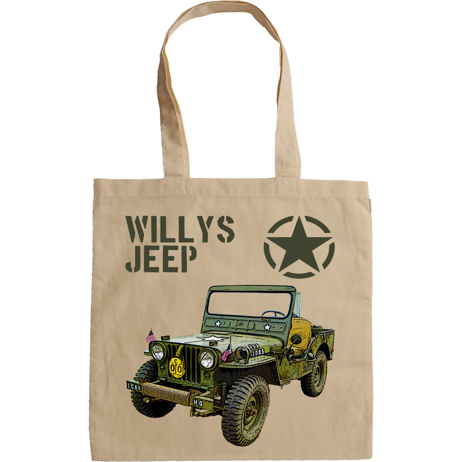 WILLYS JEEP USA WWII - NEW AMAZING GRAPHIC HAND BAG/TOTE BAG