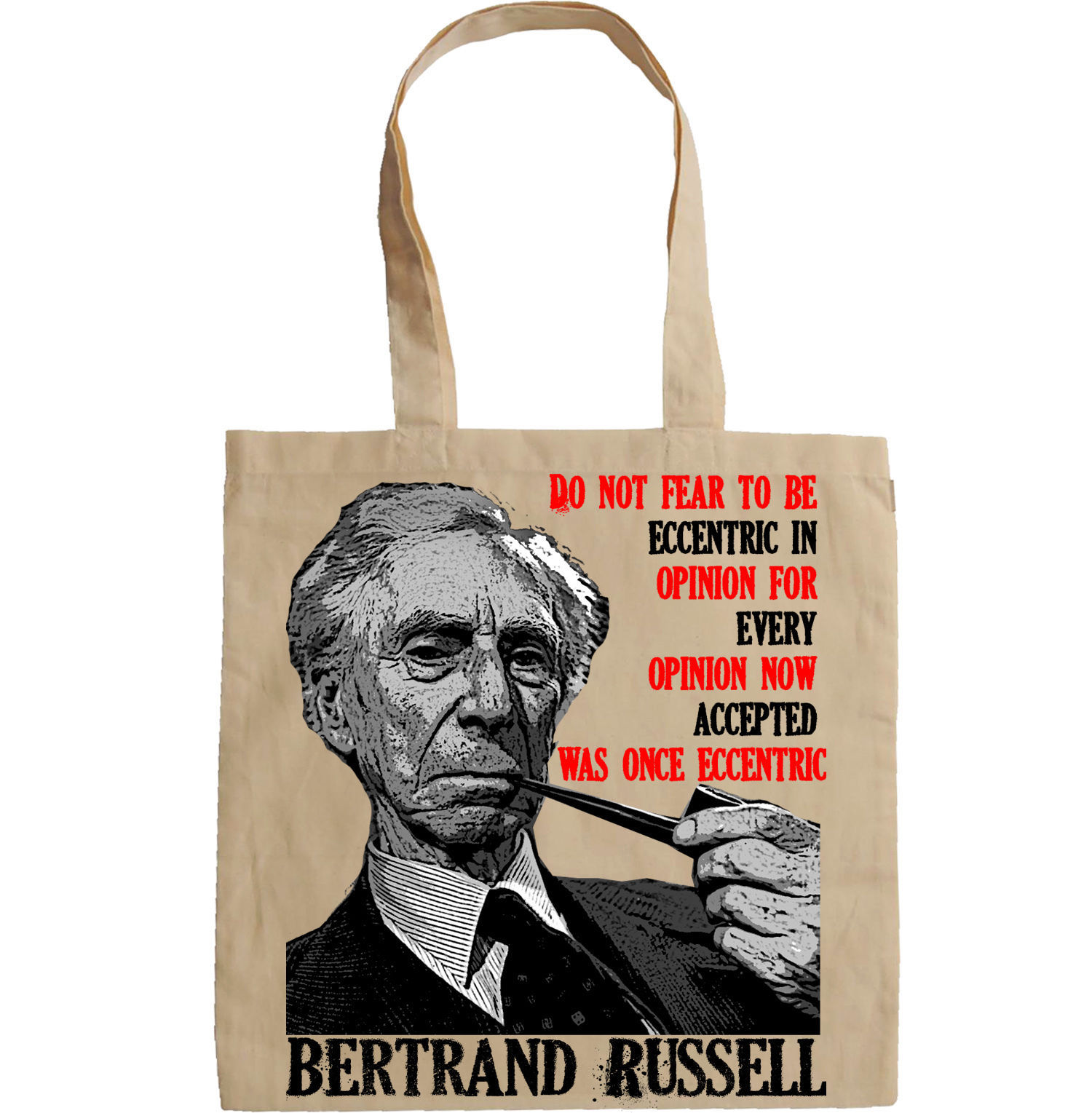 BERTRAND RUSSELL - NEW AMAZING GRAPHIC HAND BAG/TOTE BAG
