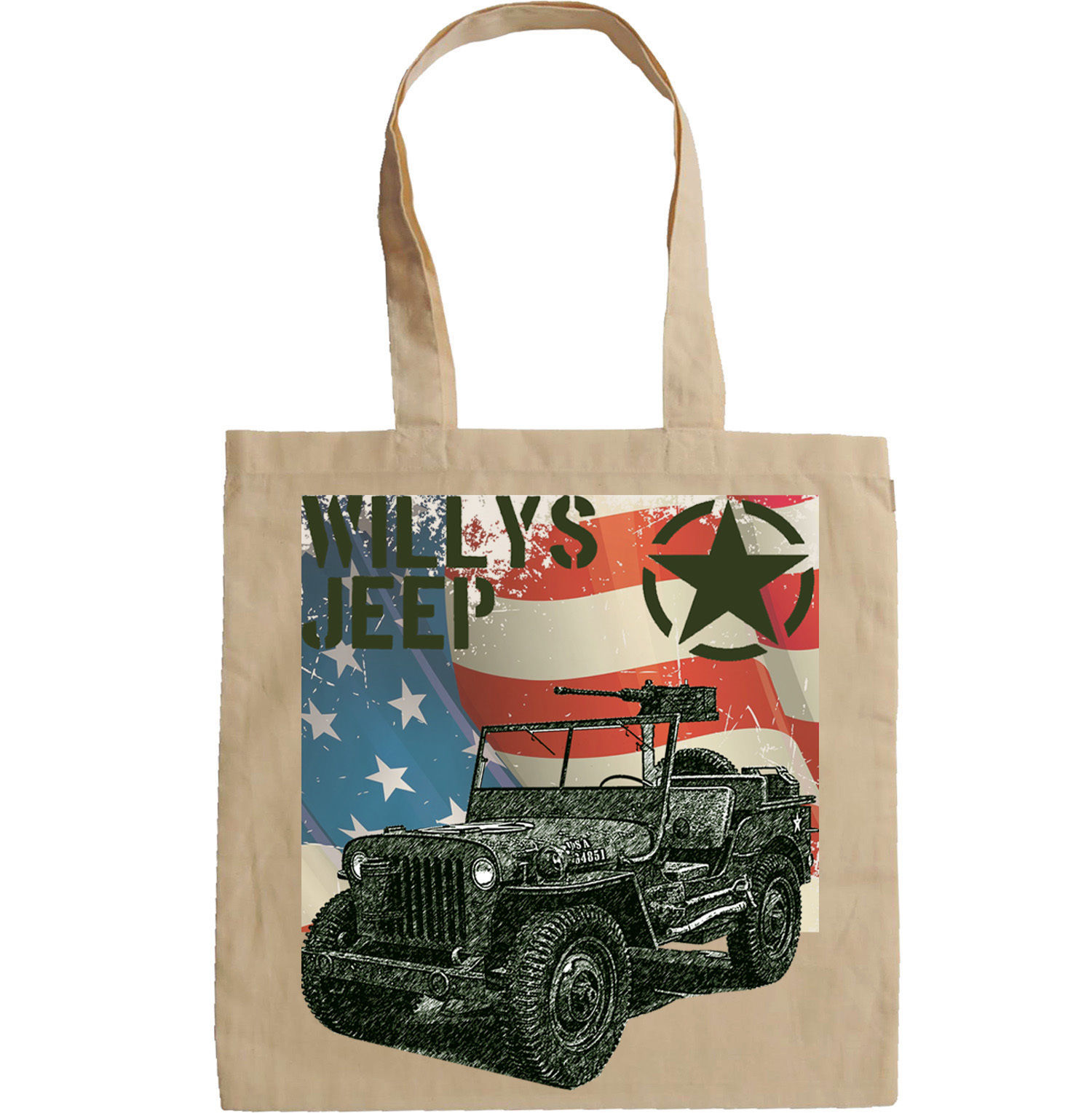 WILLYS JEEP USA ARMY WWII - NEW AMAZING GRAPHIC HAND BAG/TOTE BAG