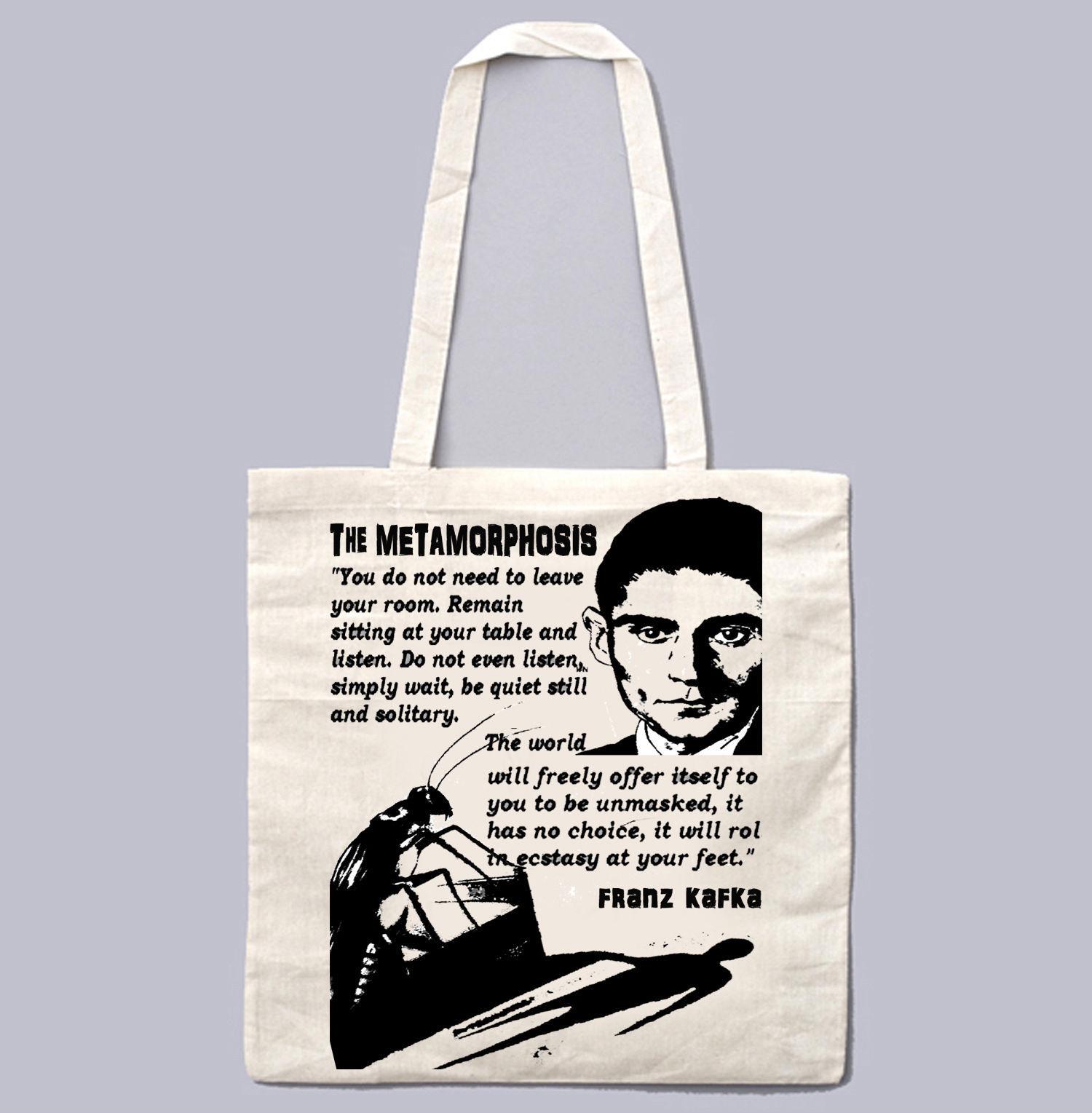 FRANZ KAFKA THE METHAMORPHOSIS 1 - NEW AMAZING GRAPHIC WHITE HAND BAG/TOTE BAG