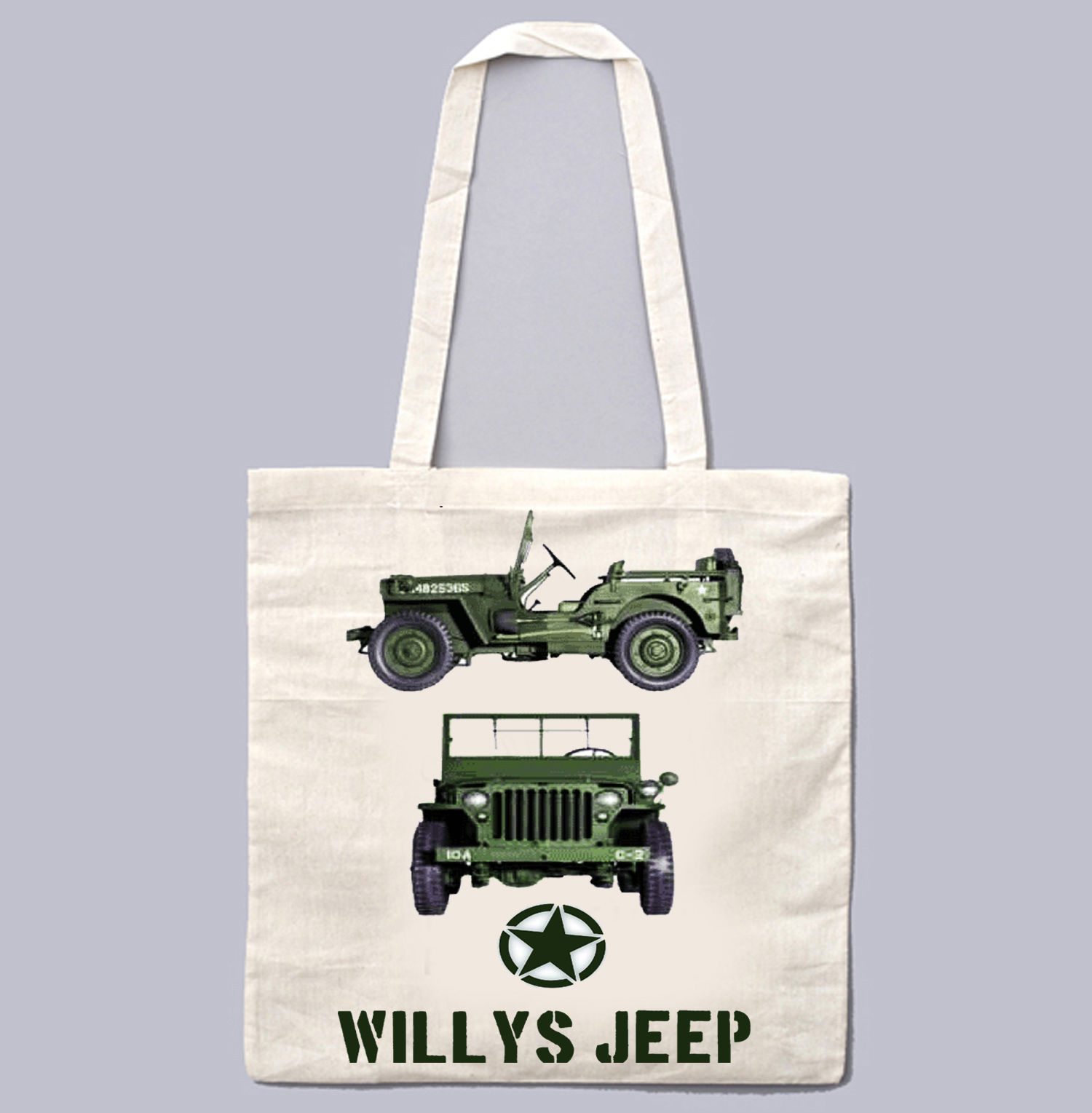 WILLYS JEEP WWII USA 1 - NEW AMAZING GRAPHIC WHITE HAND BAG/TOTE BAG