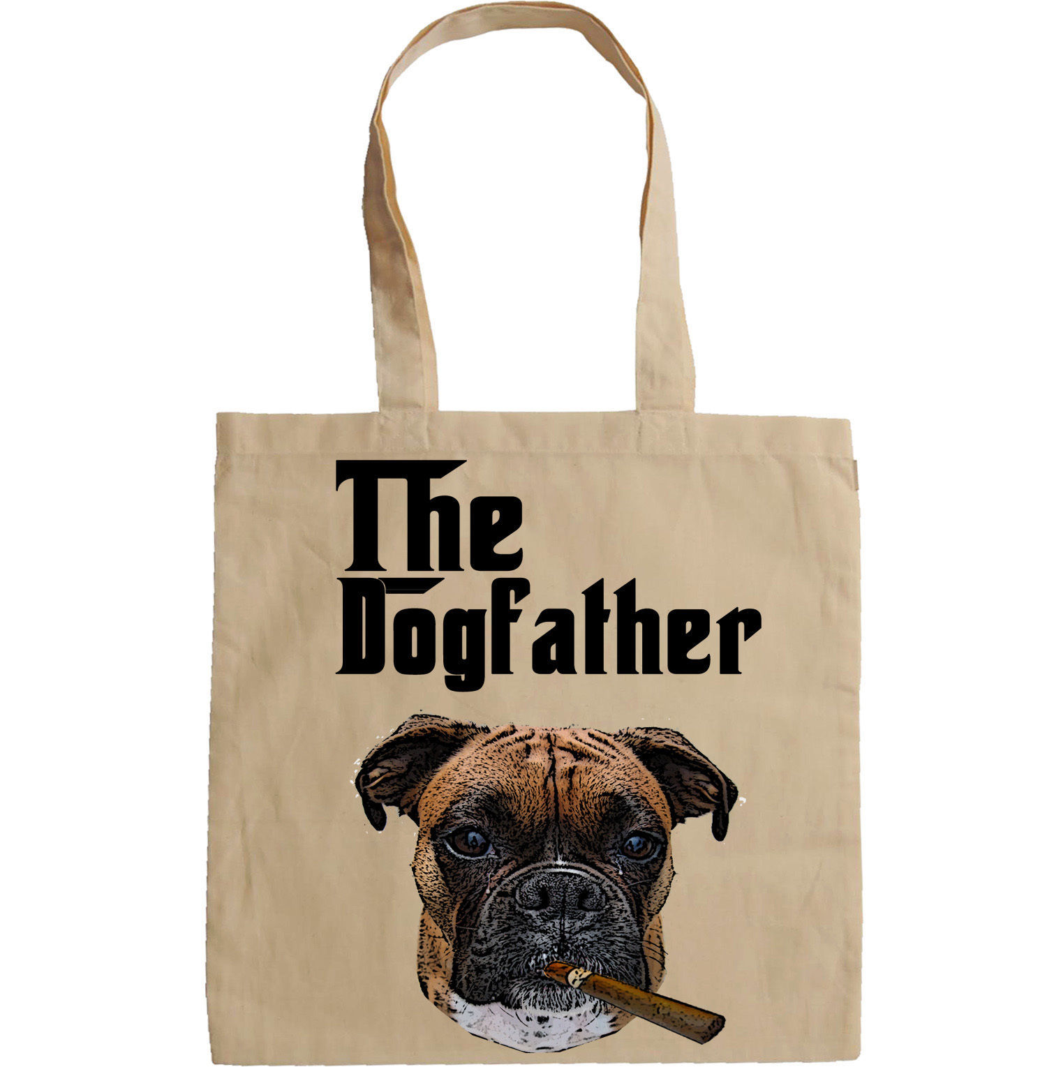 THE DOGFATHER MAFIA STYLE BOXER - NEW AMAZING GRAPHIC HAND BAG/TOTE BAG