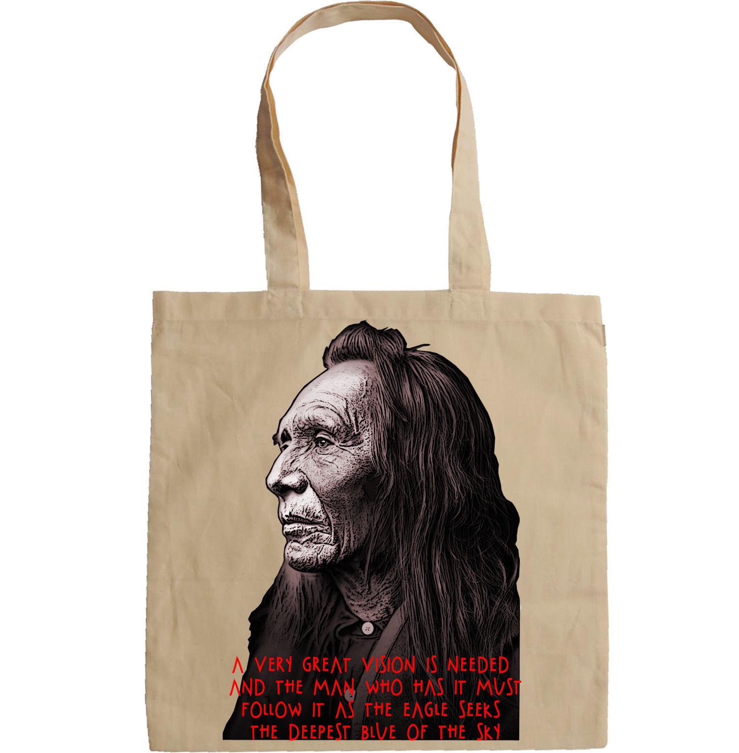 NATIVE AMERICAN QUOTE - NEW AMAZING GRAPHIC HAND BAG/TOTE BAG