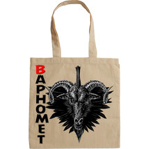 BAPHOMET EVIL SPIRIT  - NEW AMAZING GRAPHIC HAND BAG/TOTE BAG - $23.60