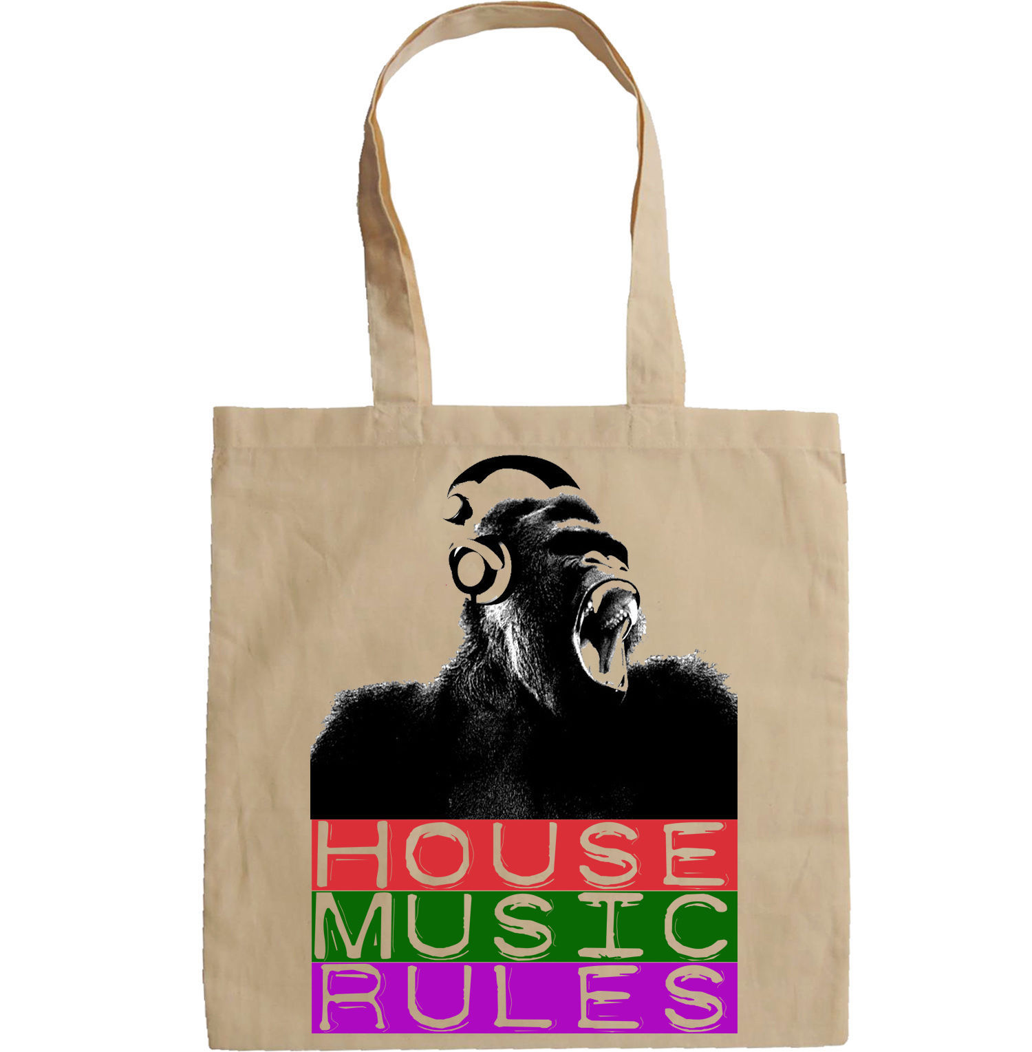 HOUSE MUSIC RULES - NEW AMAZING GRAPHIC HAND BAG/TOTE BAG