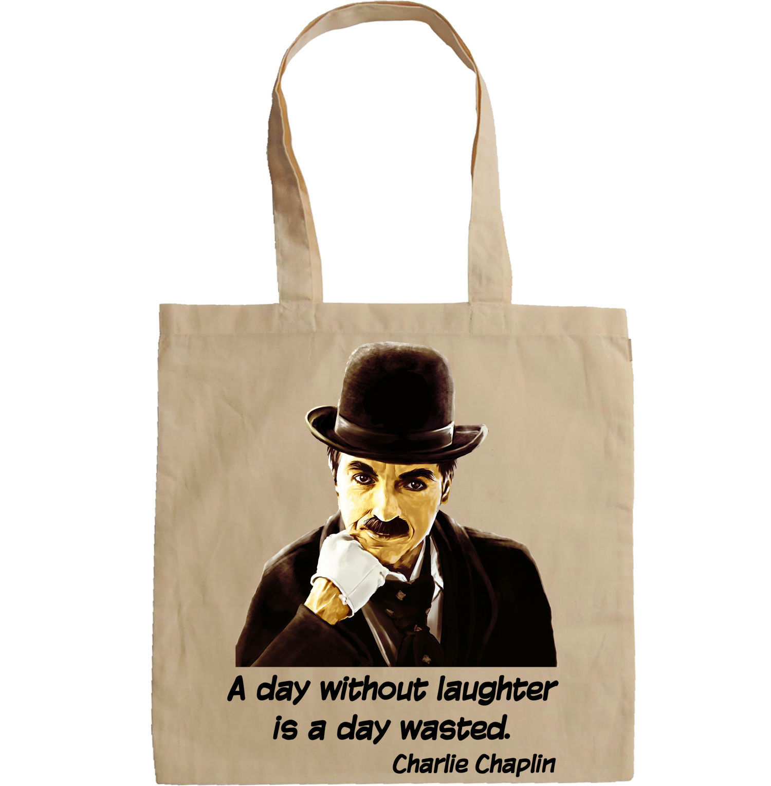 CHARLIE CHAPLIN QUOTE - NEW AMAZING GRAPHIC HAND BAG/TOTE BAG