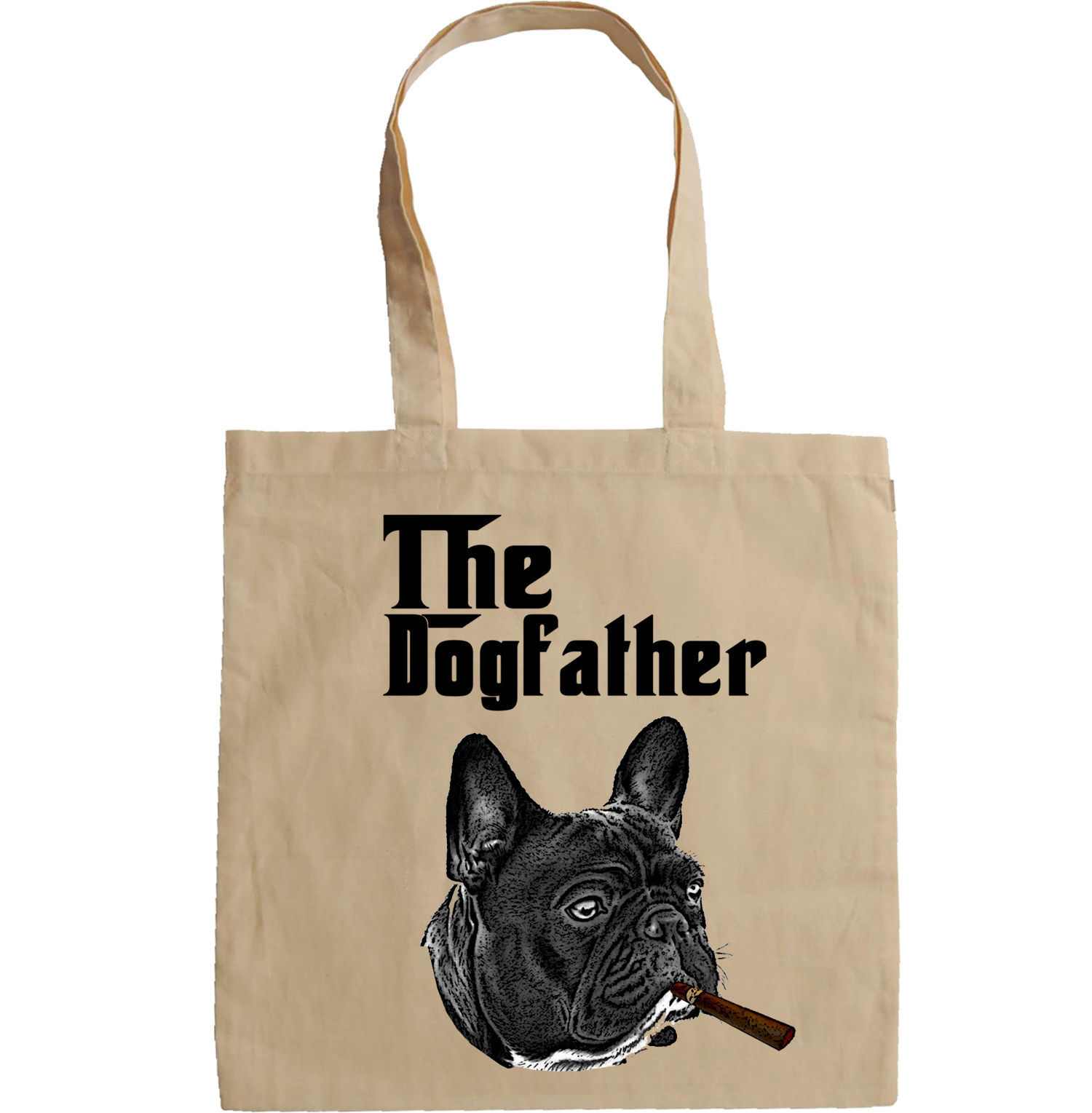 FRENCH BULLDOG THE GODFATHER - NEW AMAZING GRAPHIC HAND BAG/TOTE BAG