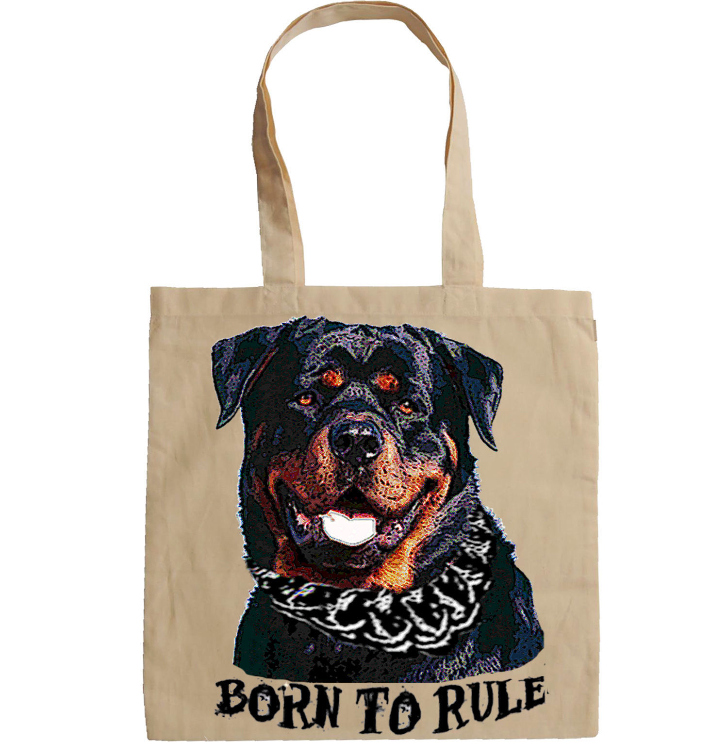 ROTTWEILER BORN TO RULE  -  NEW AMAZING GRAPHIC HAND BAG/TOTE BAG