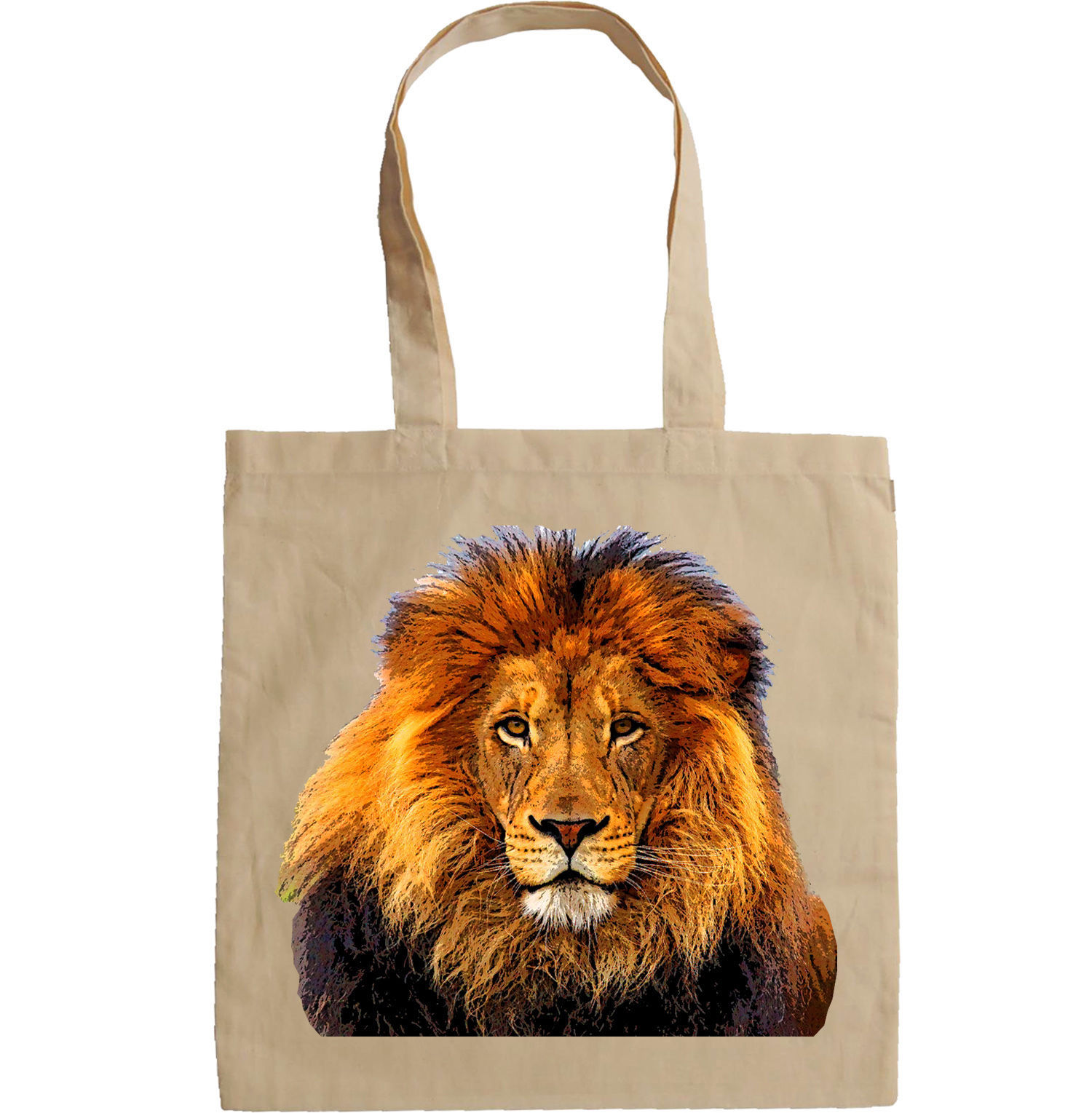 LION PAINTING CANVAS STYLE - NEW AMAZING GRAPHIC HAND BAG/TOTE BAG