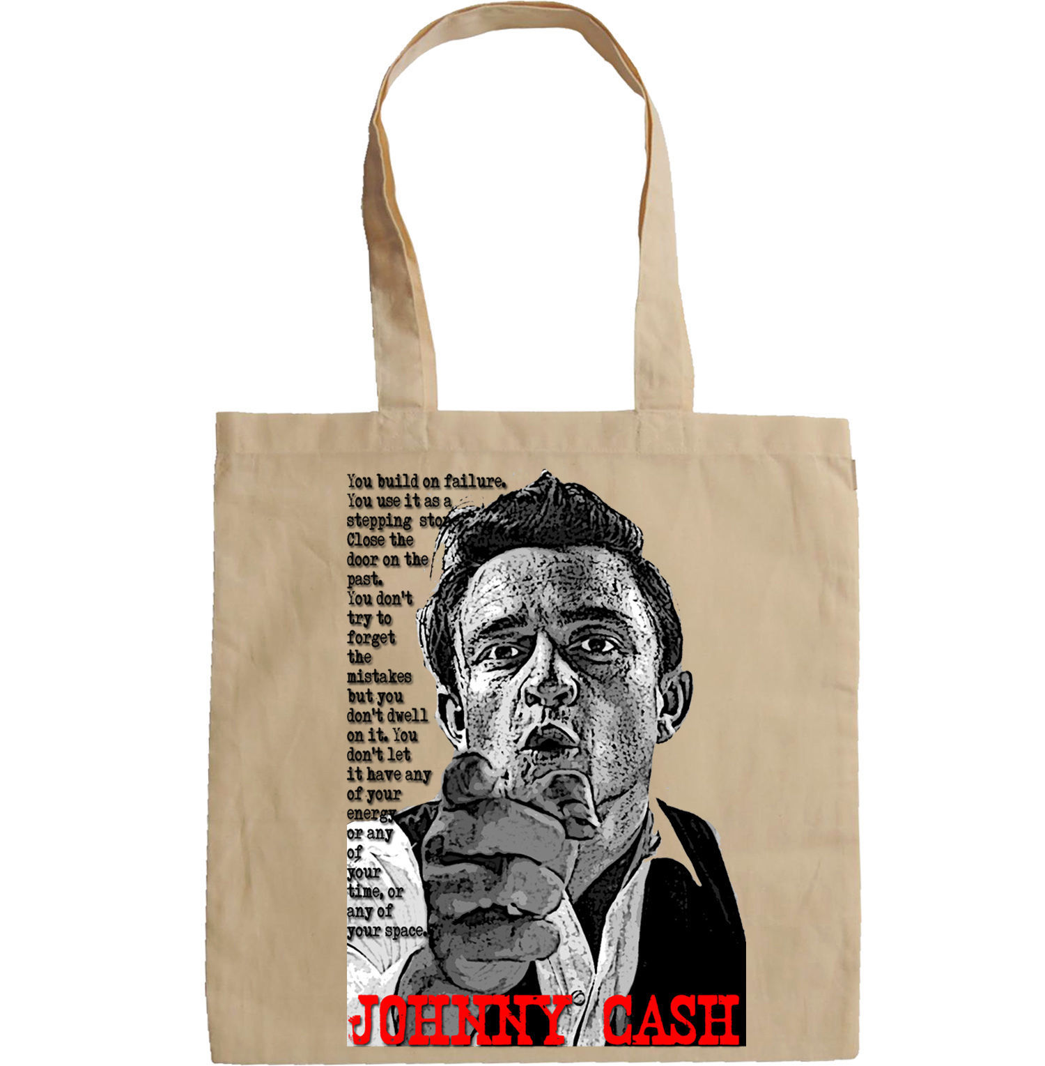 JOHNNY CASH SINGER LEGEND - NEW AMAZING GRAPHIC HAND BAG/TOTE BAG