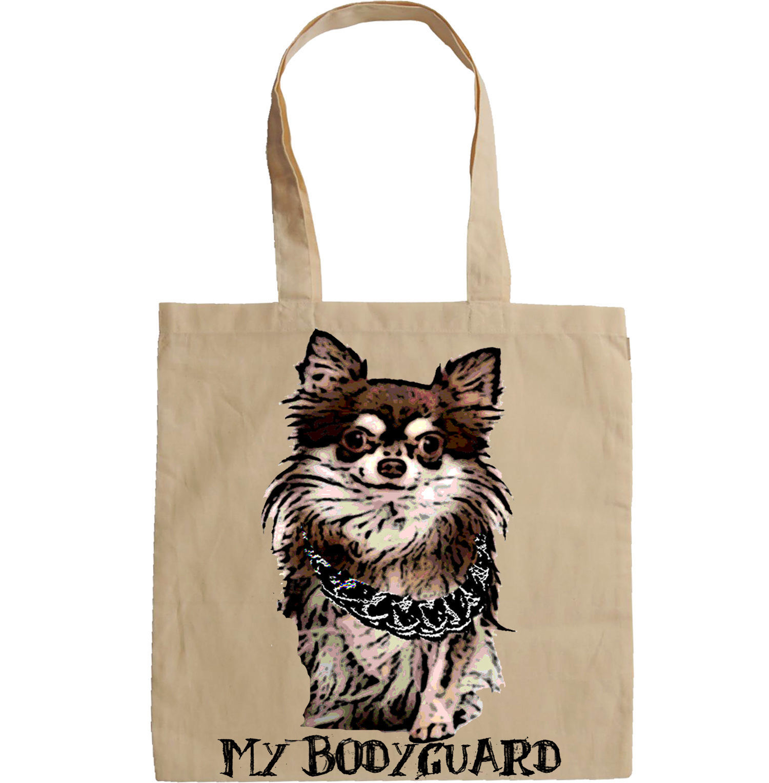 CHIHUAHUA  MY BODYGUARD 3  -  NEW AMAZING GRAPHIC HAND BAG/TOTE BAG