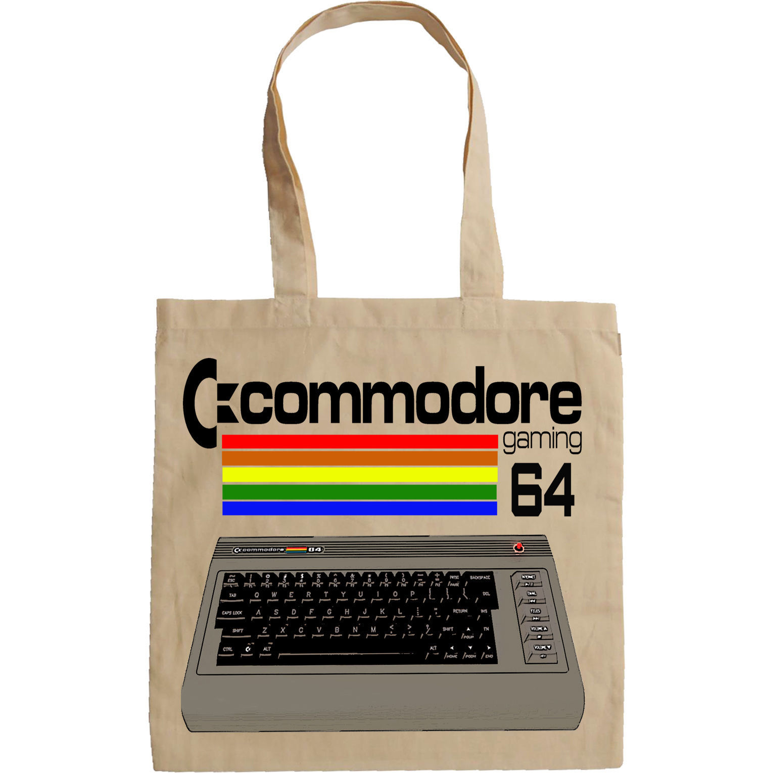 VINTAGE COMMODORE 64 COMPUTER - NEW AMAZING GRAPHIC HAND BAG/TOTE BAG