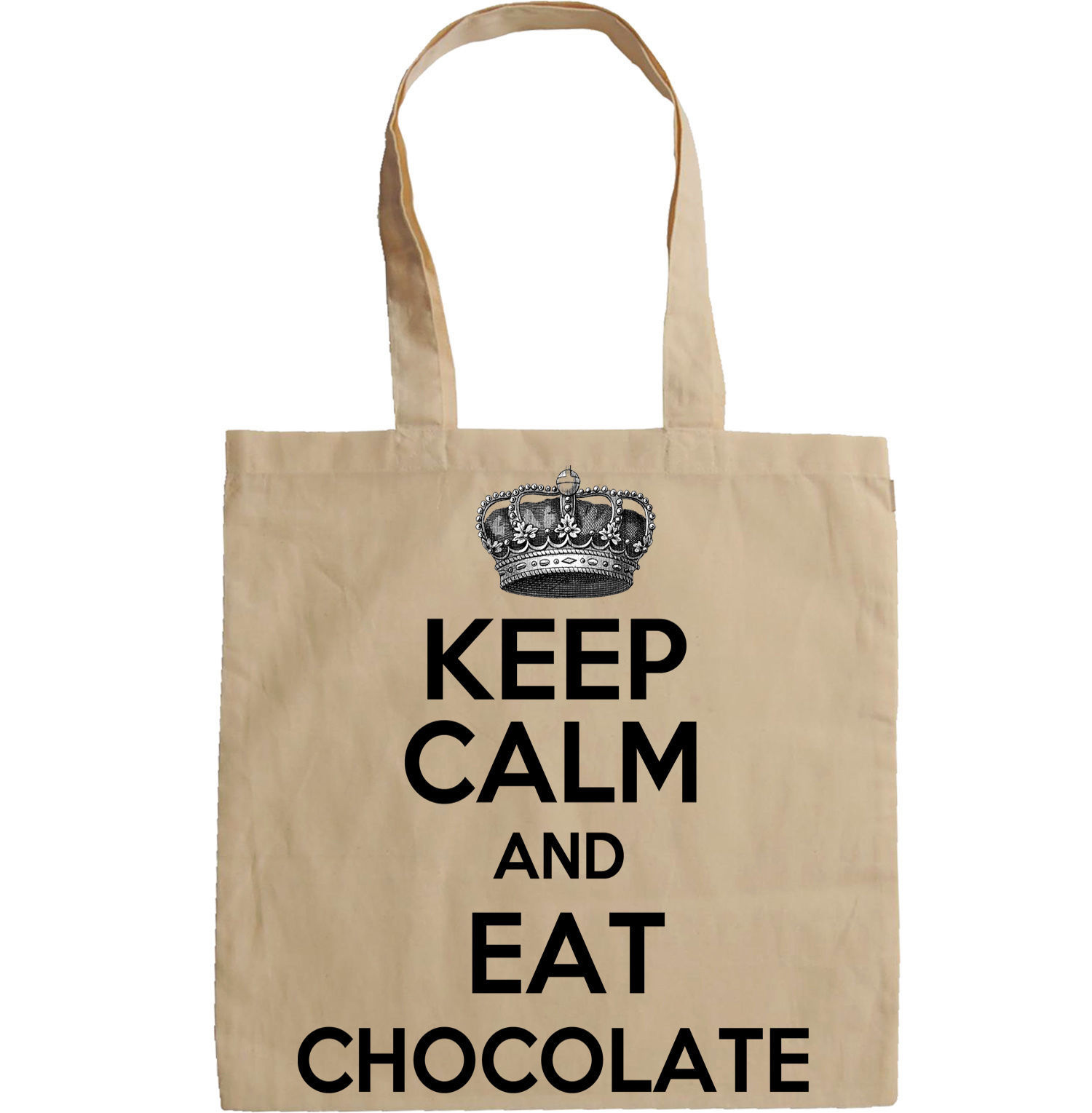KEEP CALM AND EAT CHOCOLATE - NEW AMAZING GRAPHIC HAND BAG/TOTE BAG