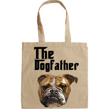 BRITISH BULLDOG DOGFATHER MAFIA STYLE - NEW AMAZING GRAPHIC HAND BAG/TOT... - $23.60