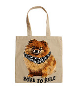 POMERANIAN DOG BORN TO RULE  -  NEW AMAZING GRAPHIC HAND BAG/TOTE BAG - $24.16