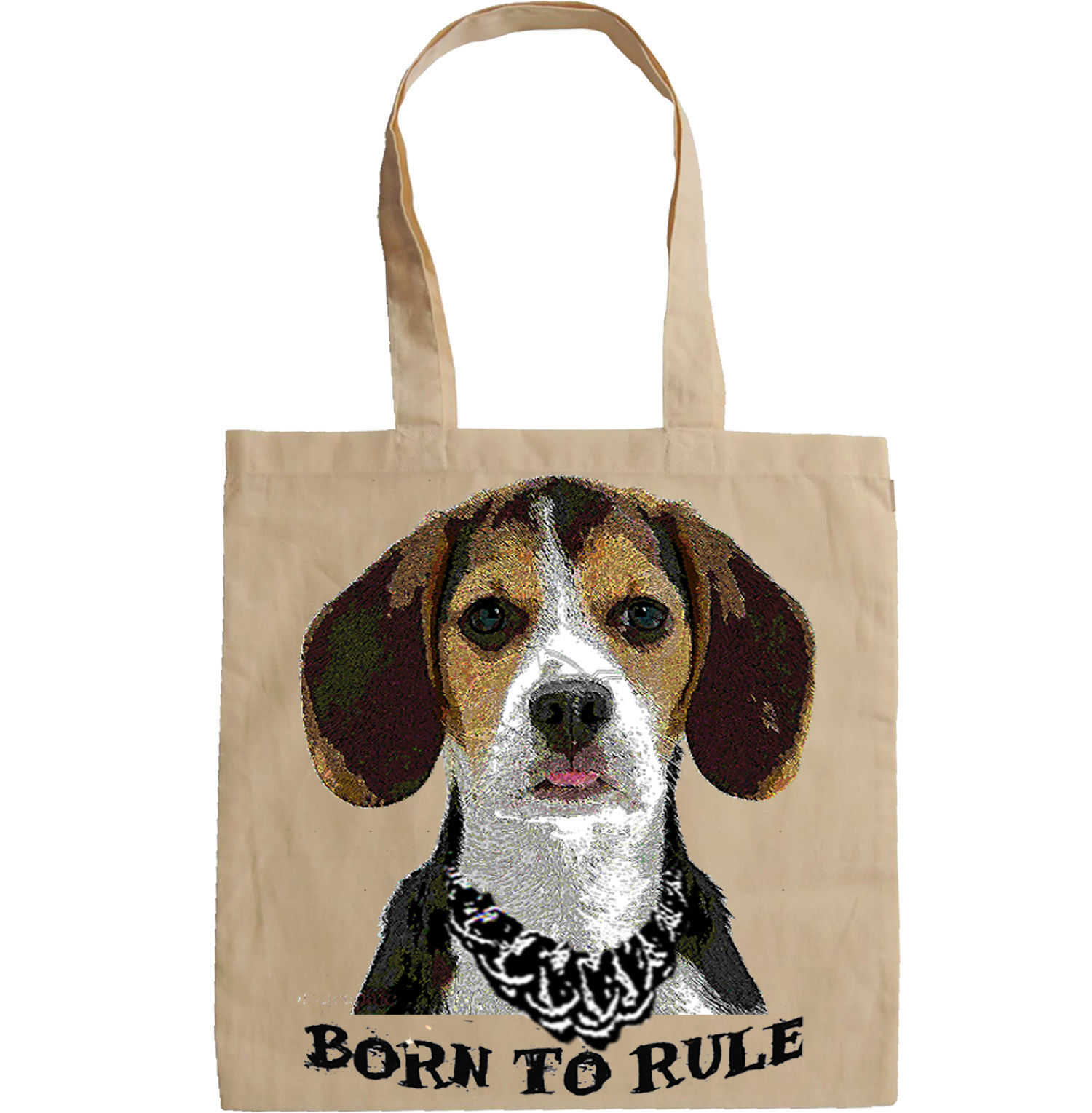 BEAGLE PUPPY BORN TO RULE  - NEW AMAZING GRAPHIC HAND BAG/TOTE BAG