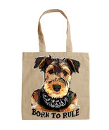 TERRIER AIREDALE BORN TO RULE -  NEW AMAZING GRAPHIC HAND BAG/TOTE BAG - $24.46