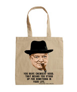 WINSTON CHURCHILL - NEW AMAZING GRAPHIC HAND BAG/TOTE BAG - $16.88