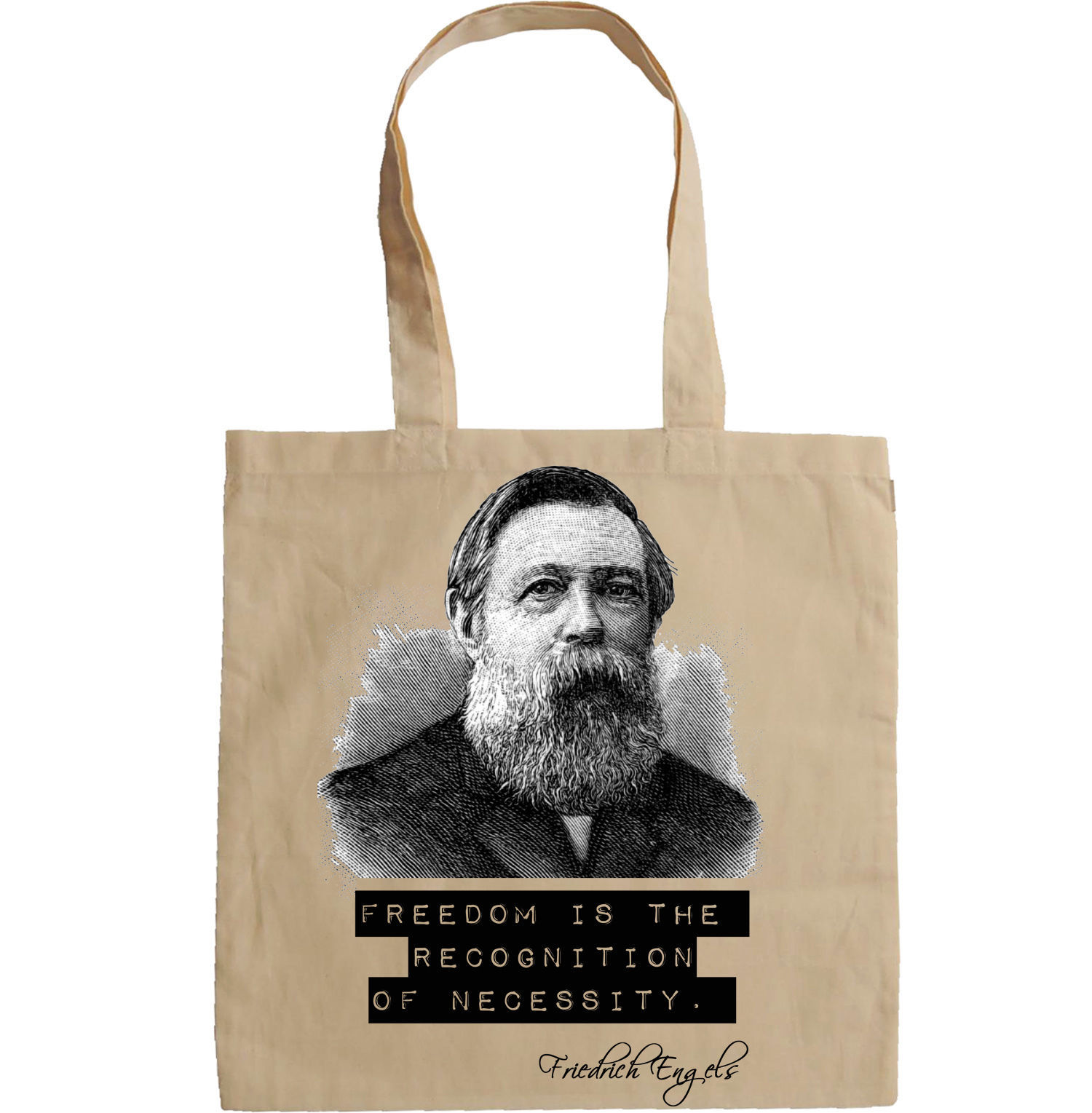 FRIEDRICH ENGELS QUOTE - NEW AMAZING GRAPHIC HAND BAG/TOTE BAG