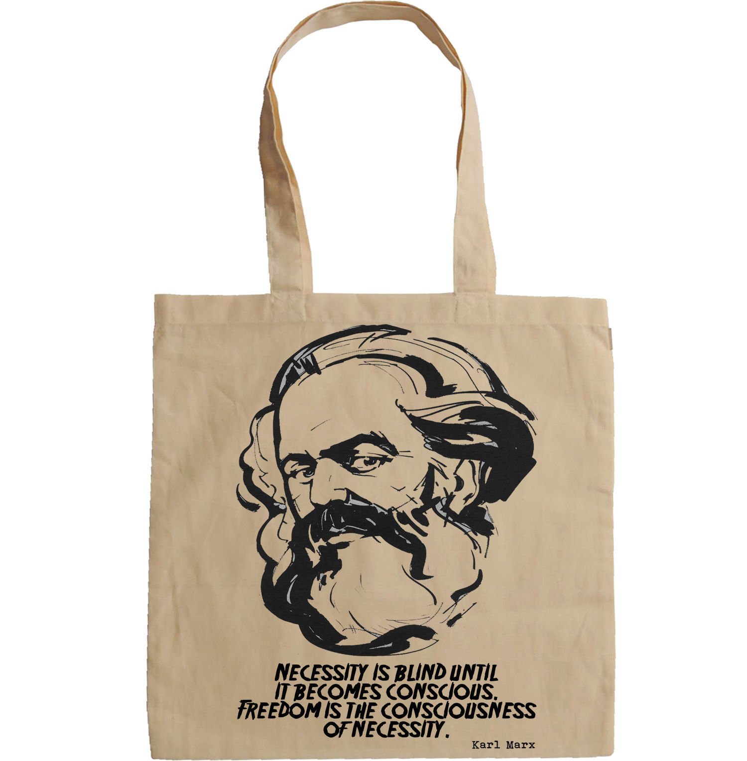 KARL MARX QUOTE - NEW AMAZING GRAPHIC HAND BAG/TOTE BAG