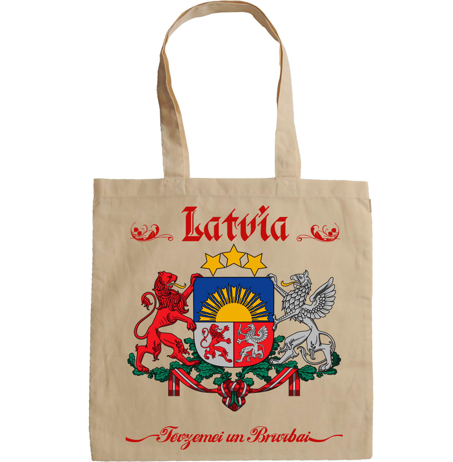 LATVIA COAT OF ARMS - NEW AMAZING GRAPHIC HAND BAG/TOTE BAG