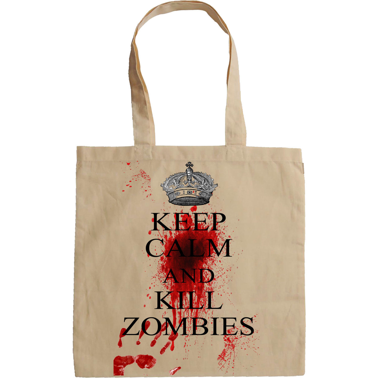 KEEP CALM AND KILL ZOMBIES - NEW AMAZING GRAPHIC HAND BAG/TOTE BAG