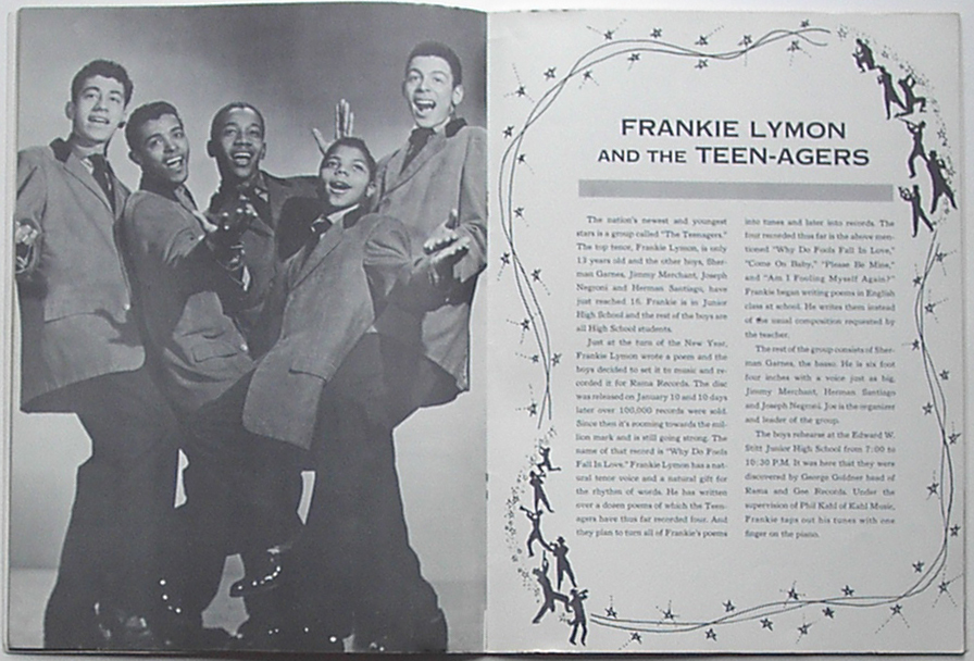 CONCERT TOUR PROGRAM Top Record Stars 1956 Chuck Berry Carl Perkins Franki Lymon