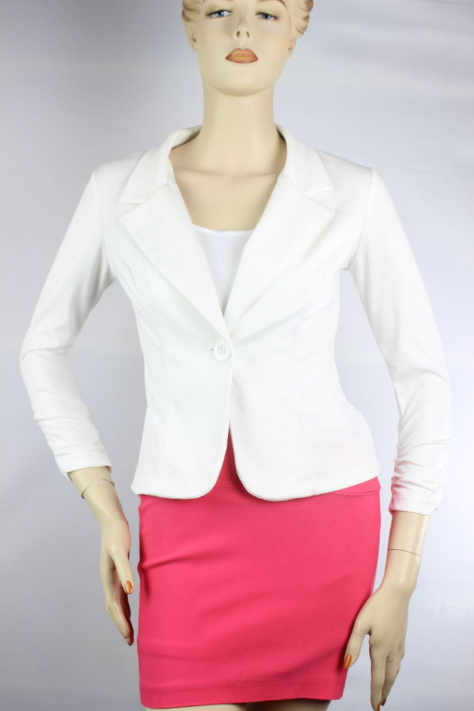 One-Button Nice RibLine Stitched Arms Long Sleeve BLAZER  Casual Suit Candy S-3X
