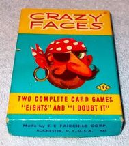 Vintage Children's Card Game Crazy Faces Complete by Fairchild - $10.00