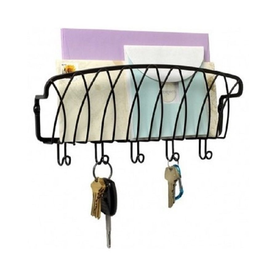Entryway Mail Key Holder Kitchen Office Letter Organizer Wall Leash Rack Hook