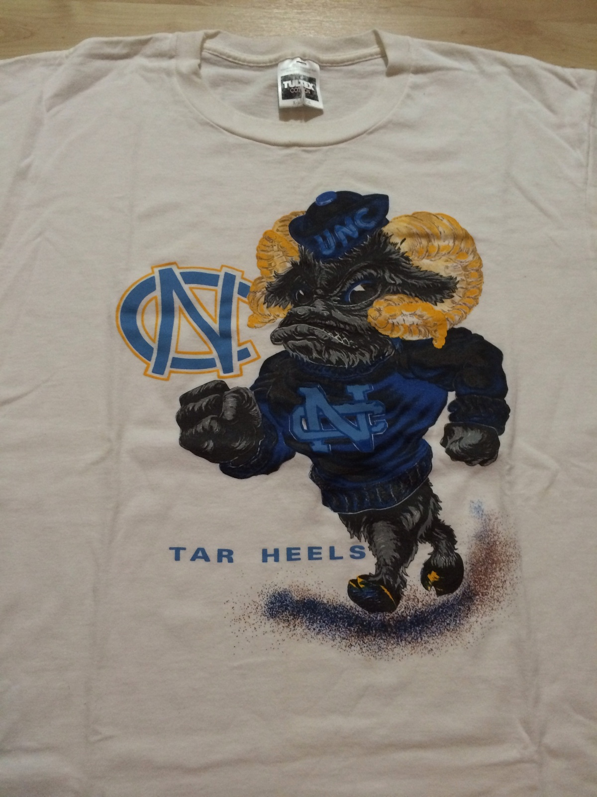 UNC University of North Carolina Cool Vintage T-Shirt Sz XL Tar Heels