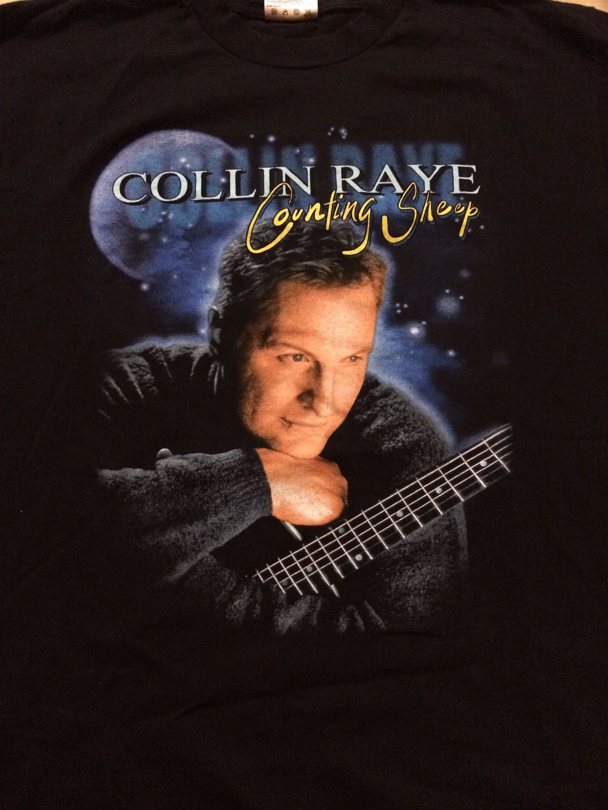 """Collin Raye """" Counting Sheep """" Cool Concert T-Shirt Sz Large  Front & Back!"""