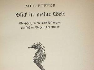 BLICK IN MEINE WELT BY PAUL EIPPER 1939 GERMAN BOOK