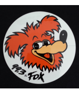 Sticker Decal Radio C Fox FM 99.3 Station Clear 1991 Round - $3.99