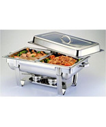 1/2 Size CHAFER PAN 2 PACK CATERING HOTEL CHAFING DISH HALF PANS - $38.61