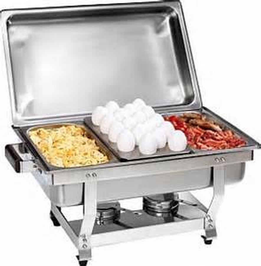 1/3 Size CHAFER PAN 3 PACK CATERING HOTEL CHAFING DISH ONE THIRD SIZE PANS