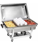 1/3 Size CHAFER PAN 3 PACK CATERING HOTEL CHAFING DISH ONE THIRD SIZE PANS - $30.06